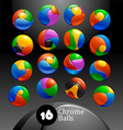 chrome balls logo elements vector image vector image