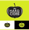 cider logo letters apple silhouette vintage label vector image