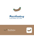 creative hot dog logo design flat color logo vector image