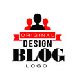 creative vlog logo design with people silhouettes vector image vector image