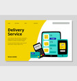 delivery service landing page fast delivery vector image