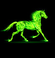 Fair Horse Run Green 01 vector image vector image