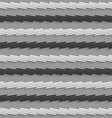Geometrical pattern with gray and black horizontal vector image