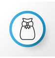 gift sack icon symbol premium quality isolated vector image vector image