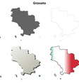 Grosseto blank detailed outline map set vector image vector image