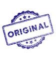 grunge textured original stamp seal vector image