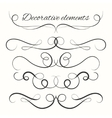 Hand drawn dividers set Decorative borders set vector image vector image