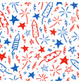 hand drawn doodles fourth july i vector image