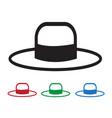hat icon vector image vector image