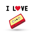 I love tape1 vector image