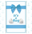 its a boy template for baby shower vector image vector image