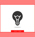light bulb icon llightbulb idea logo concept vector image