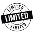 limited stamp on white vector image vector image