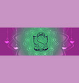 lord ganesha creative design banner with hanging vector image vector image