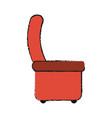 luxury chair isolated vector image