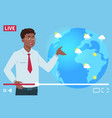 man anchorman wheather channel vector image vector image