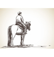 man on horse vector image vector image