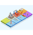 Maritime Logistic Isometric Concept vector image vector image