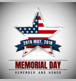 memorial day with star in national flag colors vector image vector image
