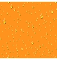 Orange water transparent drops seamless pattern vector image vector image