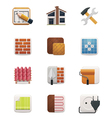 part one house renovation icon set vector image vector image