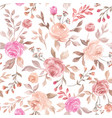 pastel seamless flower pattern backdrop background vector image