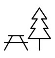picnic area line icon simple minimal pictogram vector image