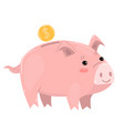 pig piggy bank isolated on white background vector image