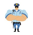 Police officer Man in form of policing Police man vector image vector image