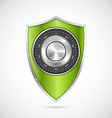 Protection green shield with the combination lock vector image