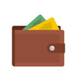 purse icon flat style vector image