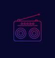 radio icon linear design vector image