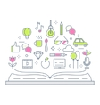Reading and Storytelling Line vector image vector image