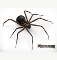 realistic spider halloween 3d icon vector image vector image