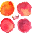 Red watercolor painted stains set