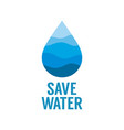 save water concept world water day vector image