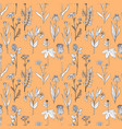 seamless pattern with medical plants vector image vector image