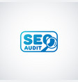 seo audit logo vector image vector image