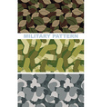 Set of military camouflage texture Army pattern of vector image vector image