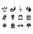Silhouette Green and Environment Icons vector image vector image