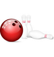 Skittles with bowling ball vector image