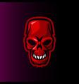 skull evil gaming mascot or e sports logo vector image