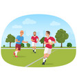 sporty people playing vector image