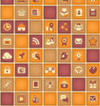 Square Pattern of Social Network in Purple Orange vector image vector image