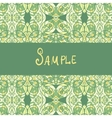 Template for banners or vintage greeting card vector image