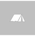 tent computer symbol vector image vector image