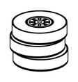 tires car race vector image vector image