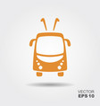 trolleybus icon vector image