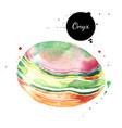 watercolor hand drawn onyx gemstone crystal vector image vector image