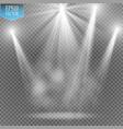white transparent energy spotlight scene with vector image